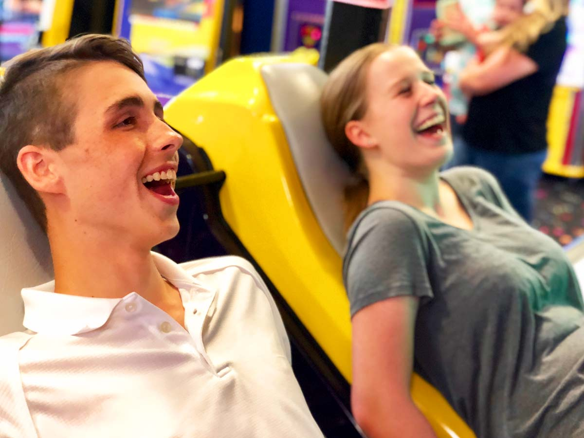 Laugh with friends in the Bonkers Arcade