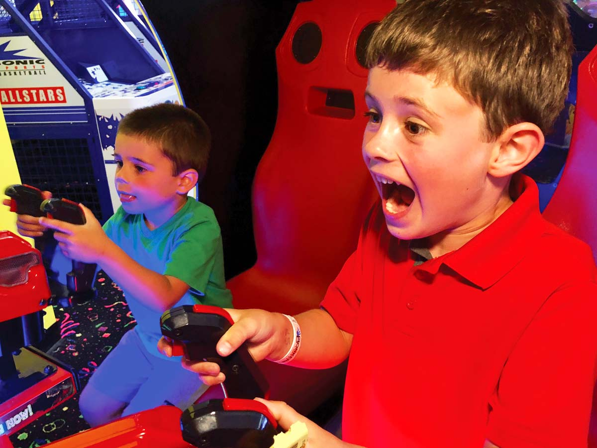Play with your friends in the Bonkers Arcade