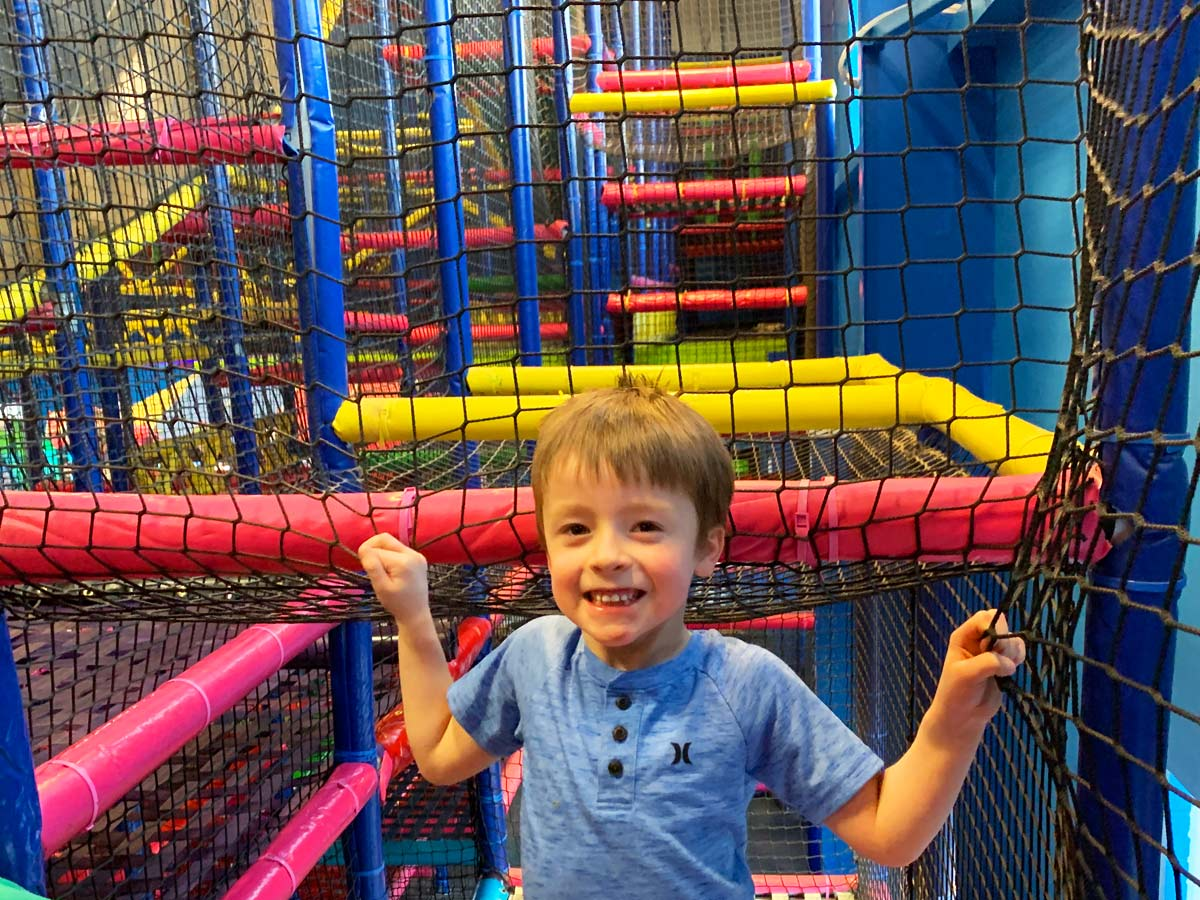The Play Maze at Bonkers is HUGE!