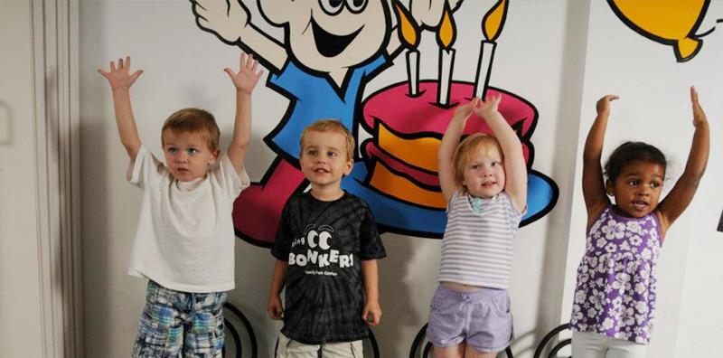 Kids have fun birthday parties at Bonkers