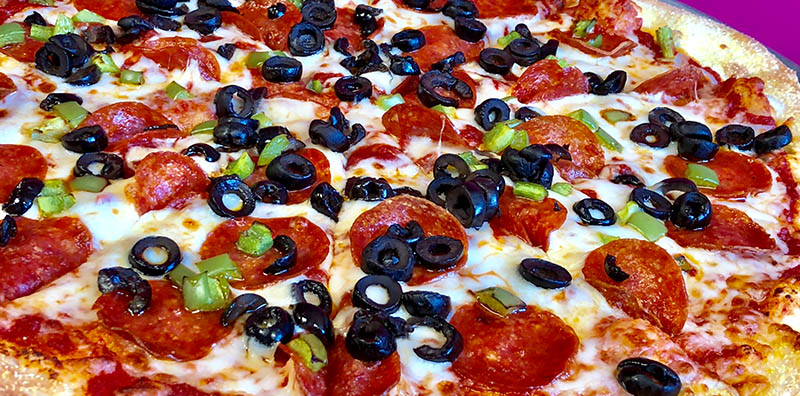 Pizza is fresh and tasty at Bonkers